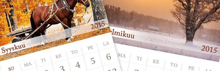 Kuvakalenteri - Kalenteri omista kuvista