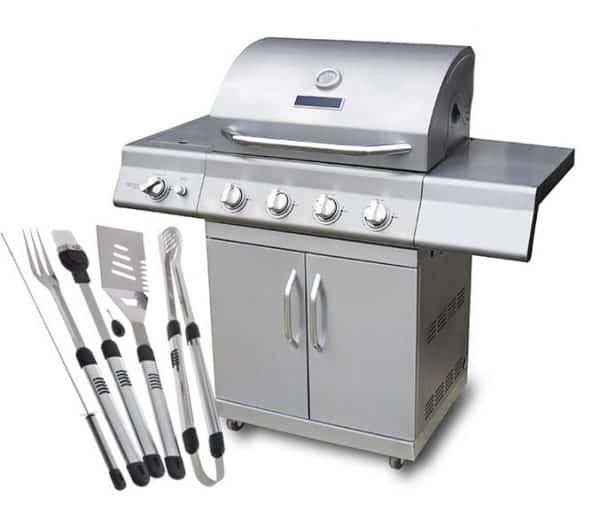 Grilli ja grillitarvikkeet tuparilahjaksi