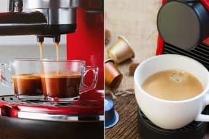 Kahvikone ja kahvikapselikone lahjapakettiin